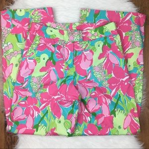 Lilly Pulitzer Parrot Wide Leg White Label Pants